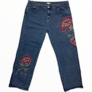 Alice & You Rose Embroidered Straight Jeans, 20